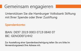 Spendenkonto Hamburger Volksbank Stiftung