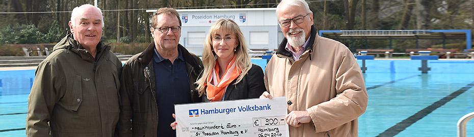 Hamburger Volksbank Stiftung - Spende an SV Poseidon Hamburg e.V